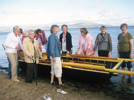 Members of Inishowen cancer group Éist pictured at the launch of their beautiful Dunfanaghy currach in August 2009. Also included in photo is Dónal MacPolin.