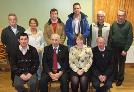 Back from left, Seamus O'Donnell, Grace Boyle (both Donegal GAA County Board), Stewart McClean (Orange Order), Cllr John Ryan, Jim Devenney (Ulster Scots) and Charlie O'Donnell, (Donegal GAA County Board). Front from left, Kieran Friel (Naomh Colmcille GAA Club), Danny Murphy (Ulster GAA Council) Pauline Lavin (NCDI) and James Dowds (Naomh Colmcille GAA Club).